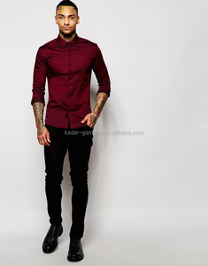high quality skinny cotton elastane long sleeve t shirts for men