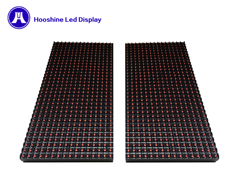 message display outdoor p10 DIP red color single led sign