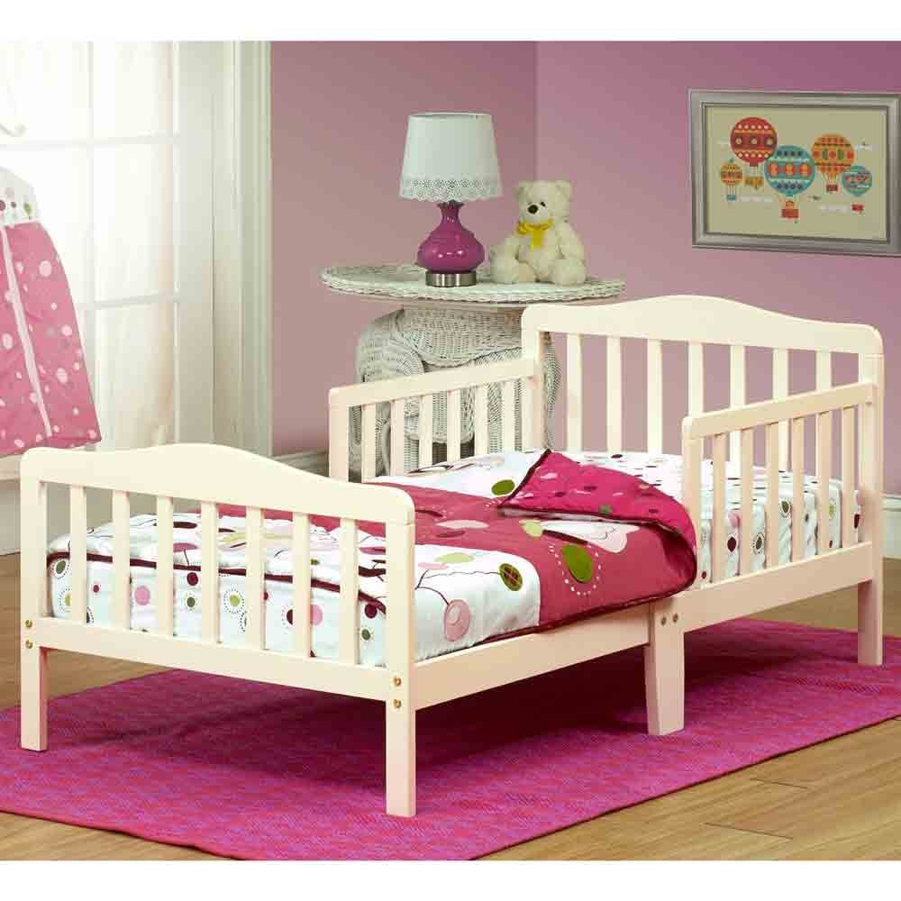 Toddler Bed | toddler beds for boys | toddler beds for girls | Orbelle Contemporary safe Solid Wood | Recommended for ages 18 Months to 5 Years | French White