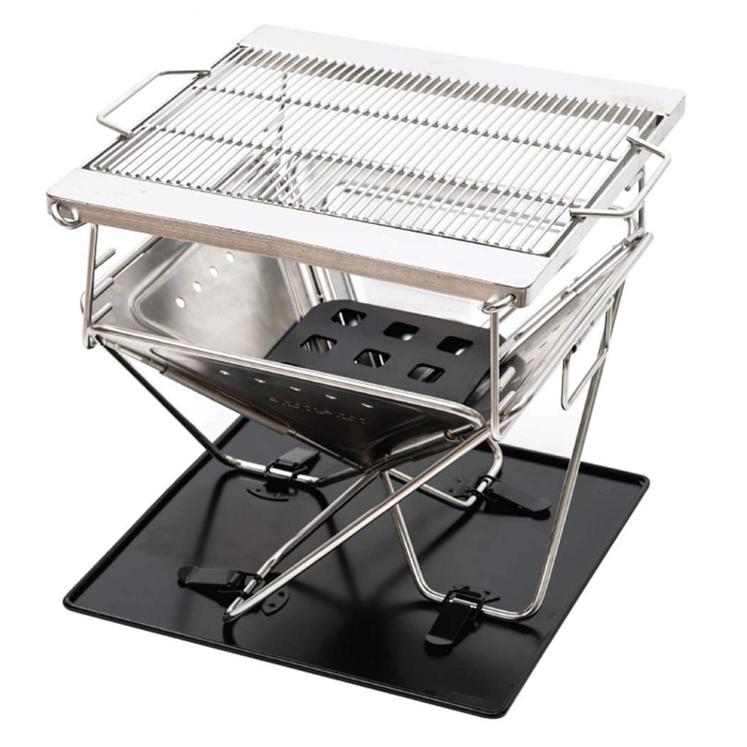 Get Quotations Dshbb Barbecue Grill Charcoal Barbecues Barbeque Racks Portable Stainless Steel Camping