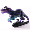 Finely crafted, natural, colorful fluorite, domineering tyrannosaurus