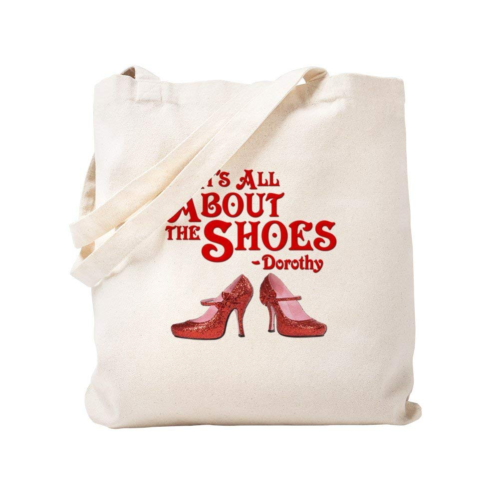 CafePress - It's All About The Shoes - Dorothy - Wizard Of Oz - Natural Canvas Tote Bag, Cloth Shopping Bag