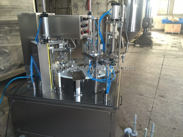 Rotary Type Roll Film Automatic Cup Filling Sealing Machine