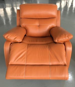 Drawing Room Simple Design Bright Colored Leather Recliner Sofa Set