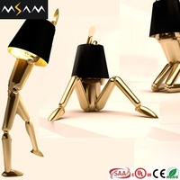 Modern bedside indoor solar rotating table lamps for hotel bedroom lightings