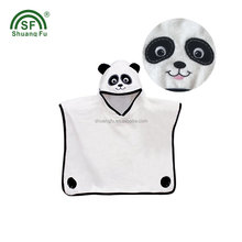 Cartoon New design 100% cotton / bamboo baby hooded towel kids beach poncho