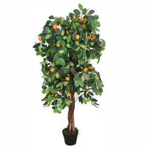 Indoor decorative flowering trees trees cheap artificial orange fruits trees