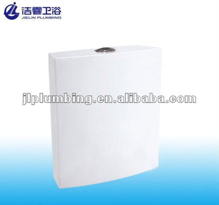 High quality T6005 plastic cistern dual button toilet tank