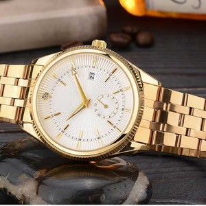 2016 Best Selling Automatic Mechanical Luxury Gold Wrist Watch for Men