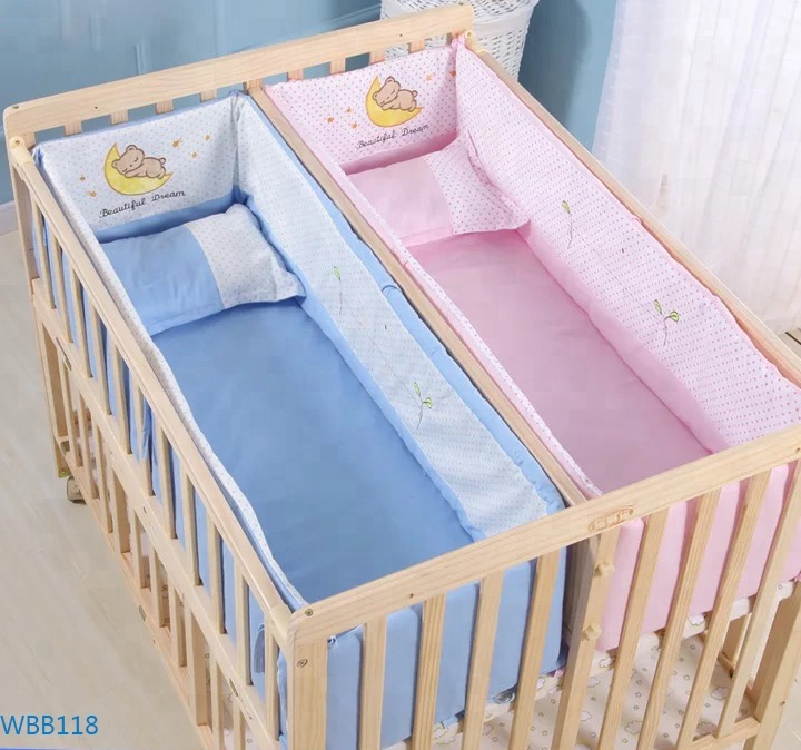 Hot Ing Wooden Cradle Designs Baby Swing Multifunctional Furniture Cribs For Twin Twins
