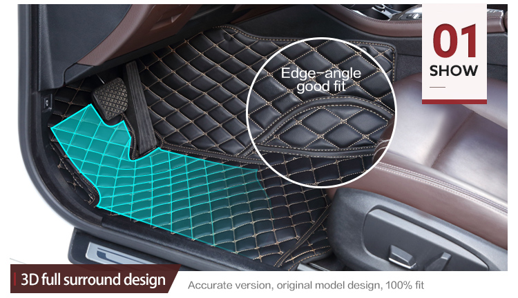 Newest design style luxury universal waterproof 5d car mat factory