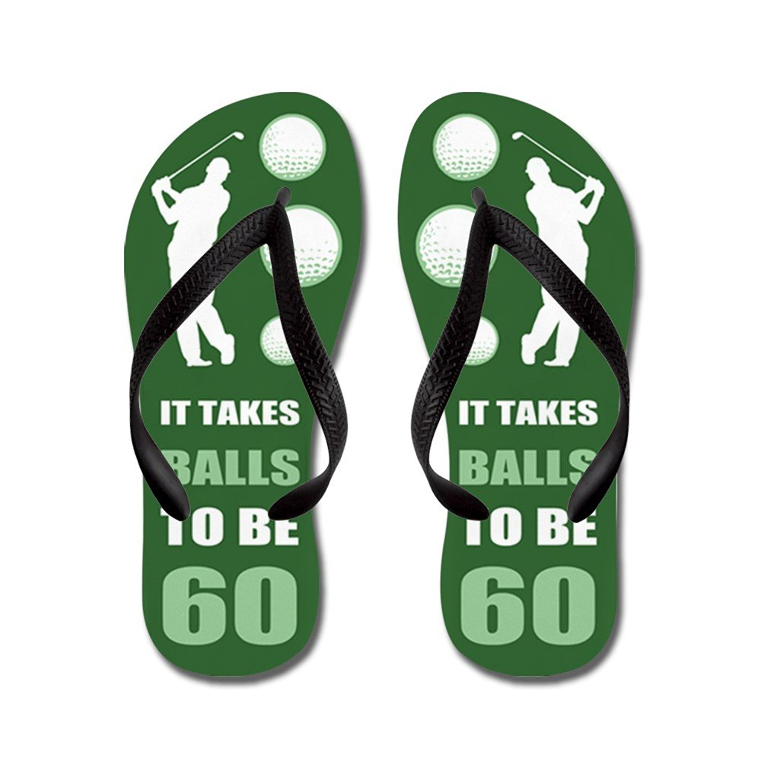 ab79223e0f39 Get Quotations · CafePress Funny Golf 60Th Birthday - Flip Flops