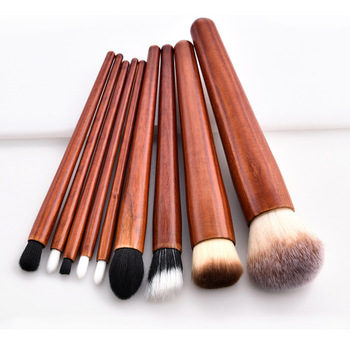 2018 hot sales cosmetic toothbrush professional 6pcs magnet gold oval makeup brush set