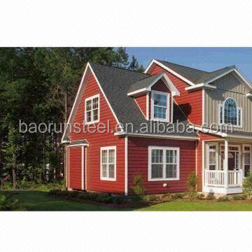 BAORUN 2015 green steel structure high quality prefabricated comfortable modern house /villa