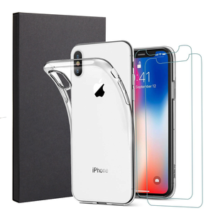 New Products Smartphone Accessory Two Tempered Glass Screen Protector One Phone Case for iPhone XS Case Luxury