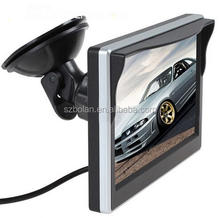 "5"" Flip Down Digital Panel Color Car Rear View Monitor Stand Alone TFT LCD Monitor For Reverse Camera DVD"