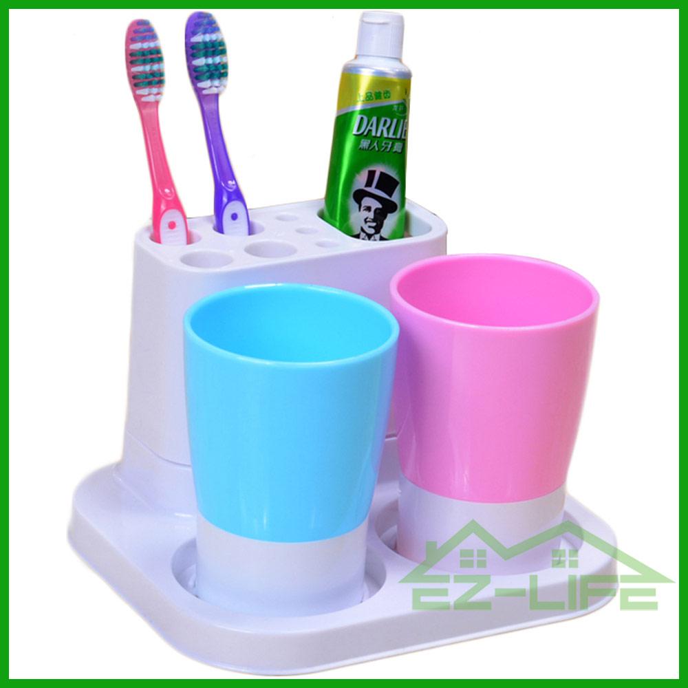 salle de bains accessoire couple amant dentifrice tasse en plastique brosse dents titulaire. Black Bedroom Furniture Sets. Home Design Ideas
