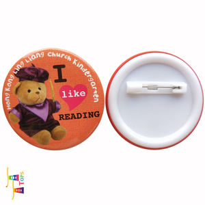 Promotional Lovely Cartoon round button badge with safe pin