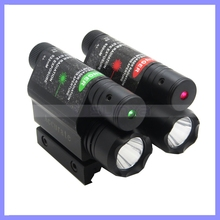 Portable Aluminum Red Green Laser Pointer Lamp Bike Holder Torch USB Rechargeable Flashlight