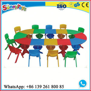 Preschool children furniture kids picnic table children table and chair set toys
