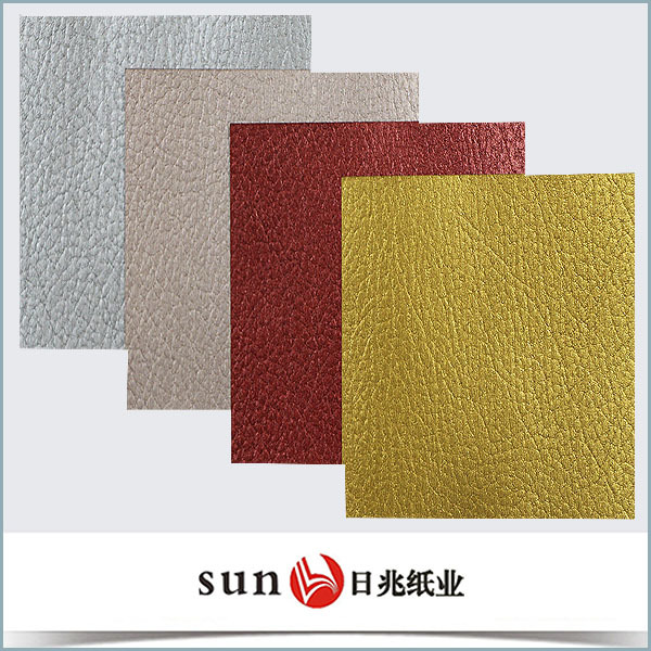 120gsm recycled Leather texture paper for packaging tea box