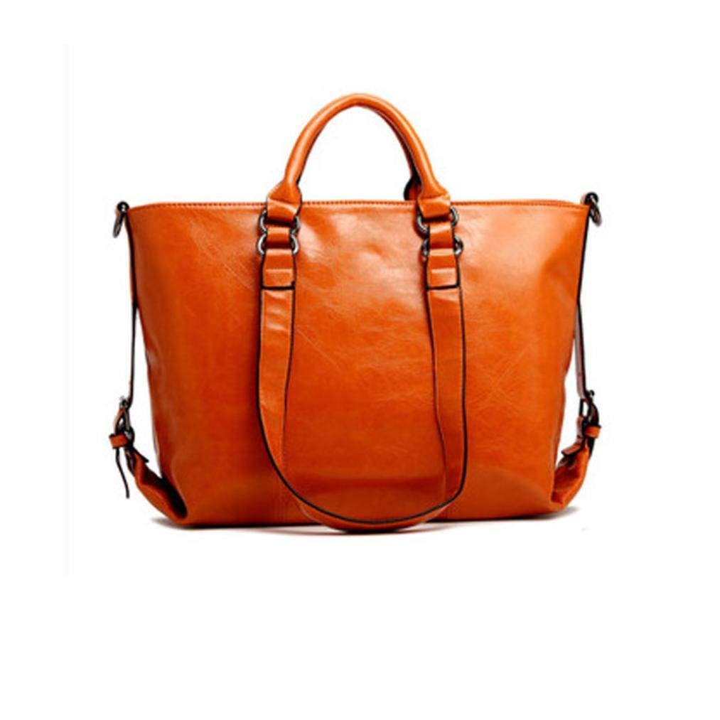 FitfulVan Clearance! Hot sale! Bags, FitfulVan Fashion Leather Bags Tote Leather Handbags Women Messenger Bags Shoulder Bags (Orange)