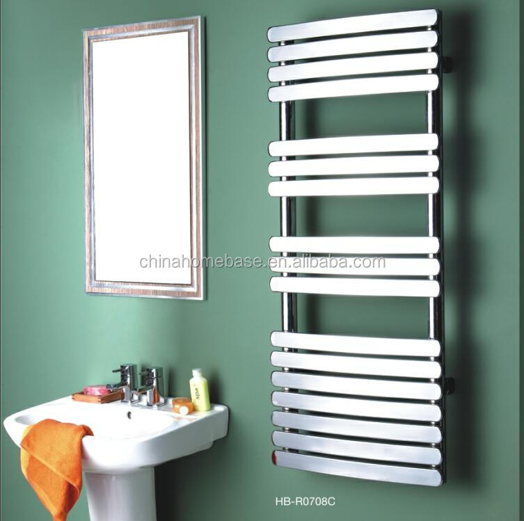 HB-R07 series bathroom hot water heated steel ladder towel racks warmer towe rails radiator