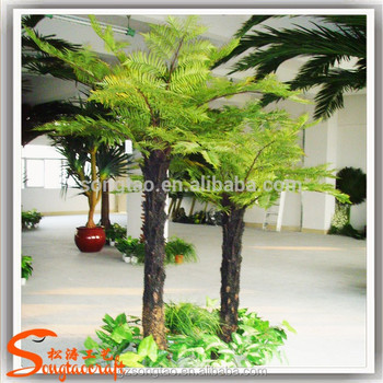 artificial plastic big fern trees outdoor fake artificial fern