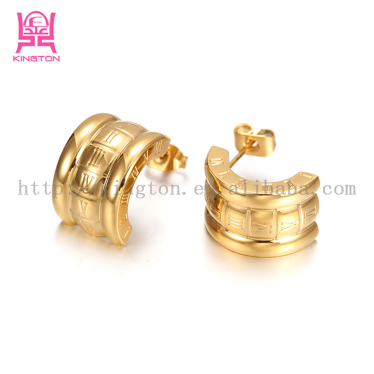 Wholesale Fashion Jewelry 18k Gold Plated Dubai Gold Jewelry Earring