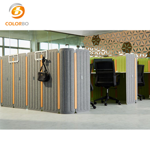 Class B1 fireproof and sound proof polyester fiber workstation for office