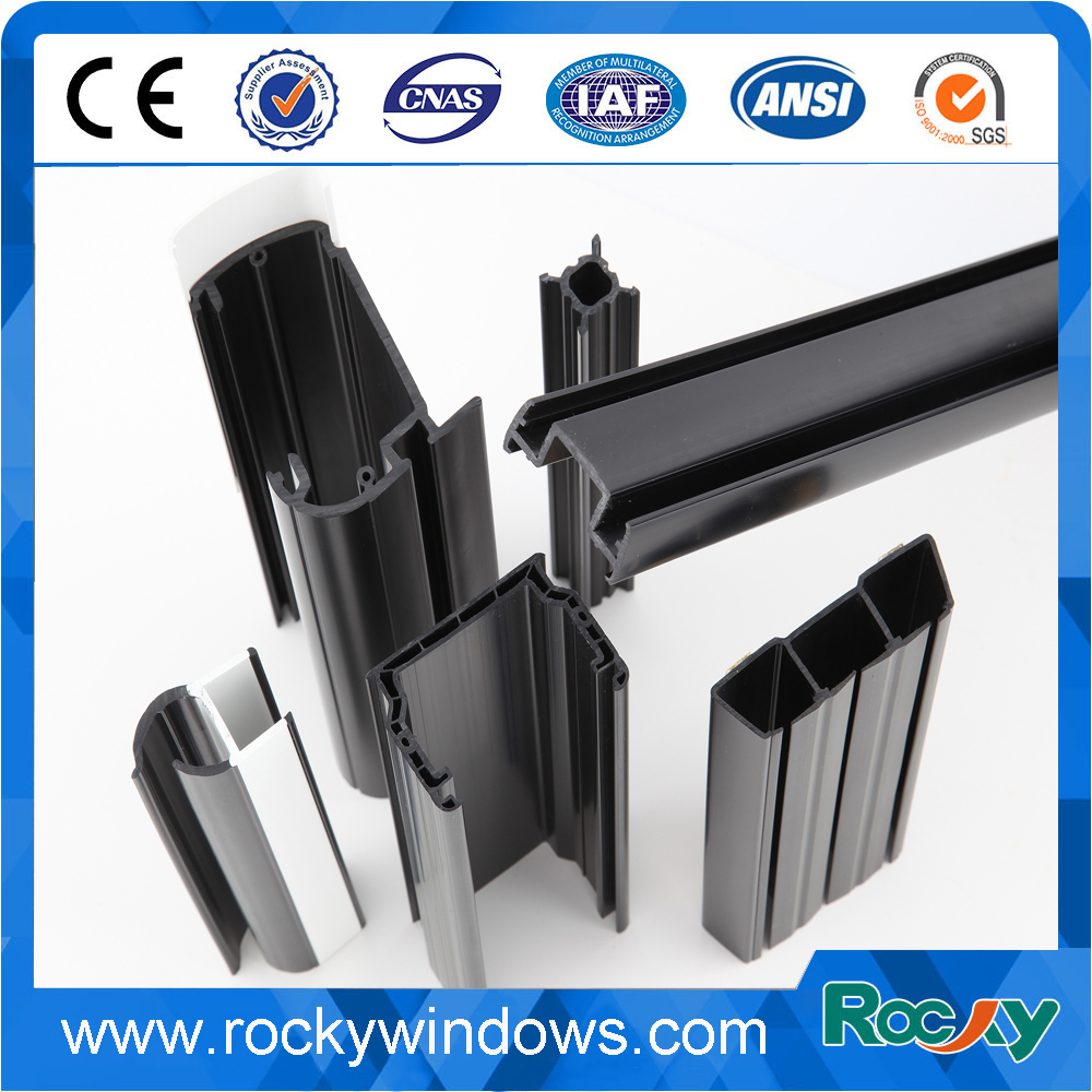 Double color Co-extrusion plastic upvc profile for windows and doors