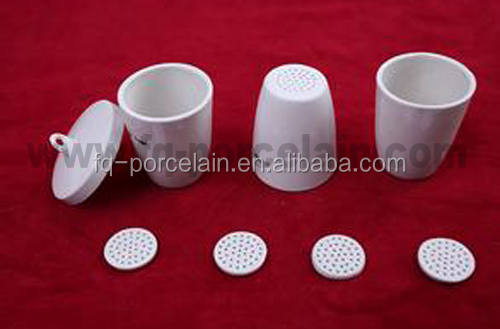 super white Laboratory porcelain crucibles high temperature
