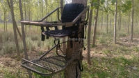 Hang on Tree Stand/self climbing tree stand/hunting deer stand with safty harness/two layer tree stand