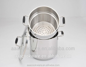 Multi Function Stainless Steel spaghetti Pot set with induction bottom and hollow handle