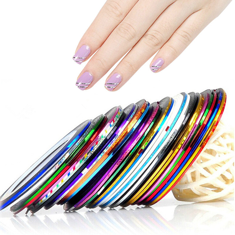 3D Color Nail Art Sticker tips striping tape line for nail art decoration with 36 colors фото