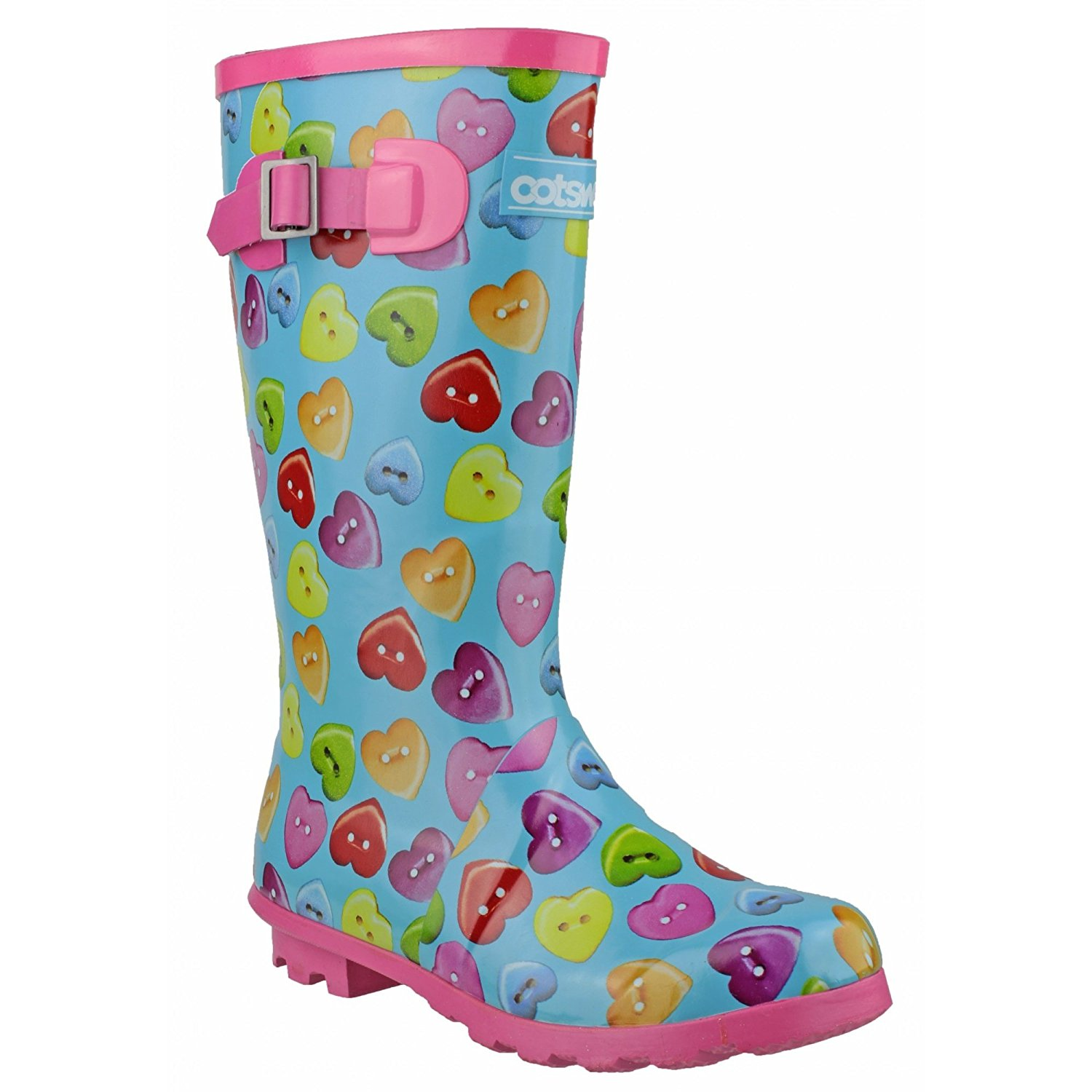 Cotswold Rainbow Multicoloured Childrens Wellingtons Rubber