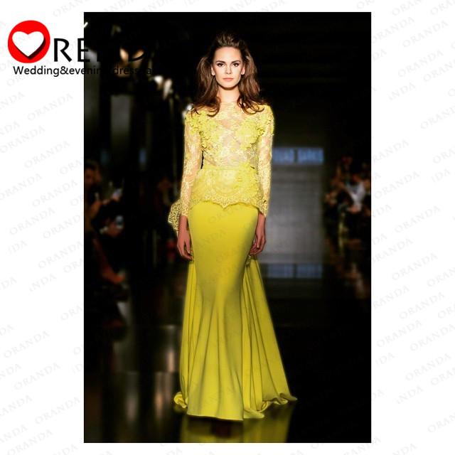cfa1f7bd4 Vestidos de noche amarillos 2016 - Vestidos formales