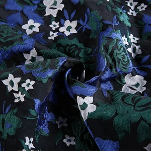 good quality floral dress 100% polyester jacquard digital printing fabric