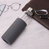 550ml Glass Water Bottle With Silicone Sleeve (Grey)