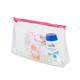 Beauty Lady Women transparent zippered makeup organizer bag with zip small PVC pouch