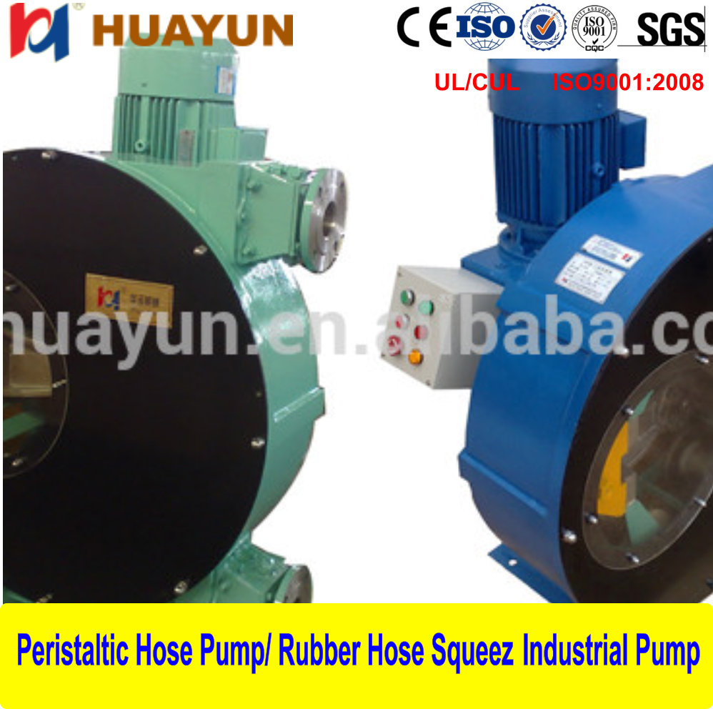 CLC block machine use peristaltic pump Canton fair Rubber Hose Squeeze Industrial Pump for Industry, Peristaltic Hose Pump