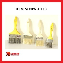 Factory Supply high quality White or black pig bristle wall cleaning paint brushes, decorative wooden brushes hand tools