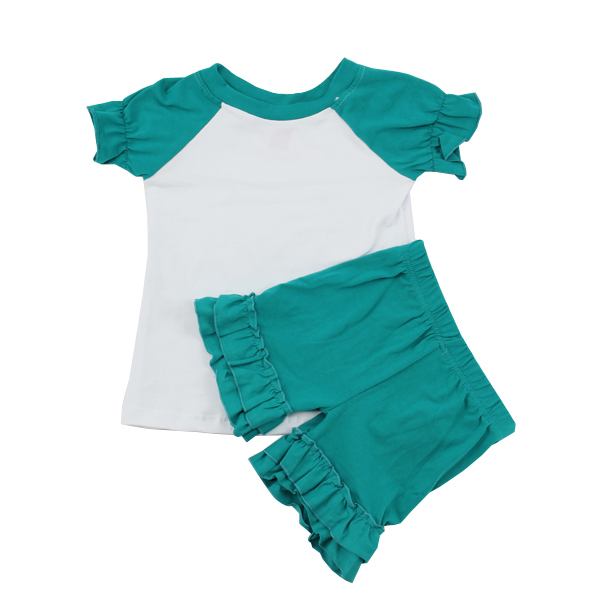 Steady Lot Of 2 Toddler 2t-3t Teal Colored Bottoms Capri And Ruffle Less Expensive Baby & Toddler Clothing