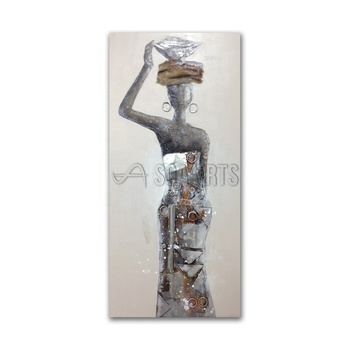Abstract 3D African women oil painting