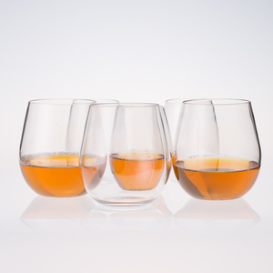 Glassware Manufacturers Thick Stemless, Red and Black Wine Glass