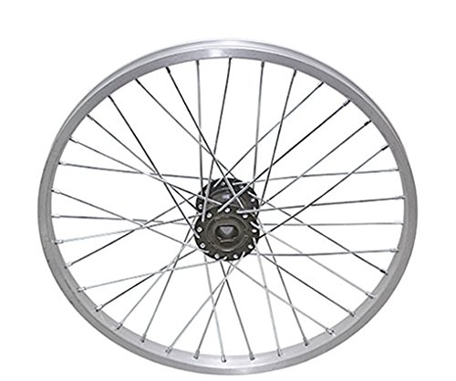 """Lowrider 20"""" 36 Spoke Trike Alloy Hollow-Hub G/Right Wheel 12g UCP Bearing 15mm inner diameter x 35mm outer diameter Silver bike part, bicycle part, bike accessory, bicycle accessory"""