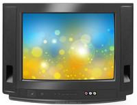 21 INCH normal flat sharp tv in black color