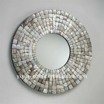 Uk Beautiful Shell Frame Mosaic Mirror Mother Of Pearl