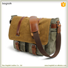 1MS0179 New Arrival High Quality Custom Canvas Messenger Bag for Man in Leather