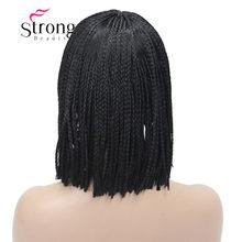 StrongBeauty короткий Боб плетеный ящик косы блонд парик полный охват синтетические парики выбор цвета(Китай)